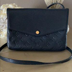 Louis Vuitton black twice empriente crossbody bag